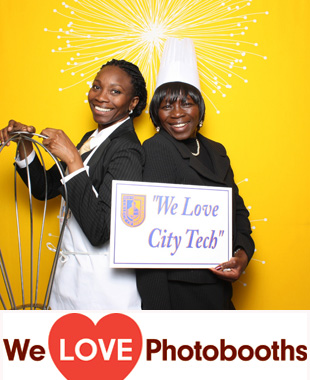 NY  Photo Booth Image from New York City College of Technology  -- Janet Lefler Dining Room in Brooklyn, NY