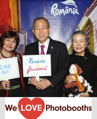 NY  Photo Booth Image from Dag Hammarskjöld Library Penthouse, United Nations Headquarters in New York, NY