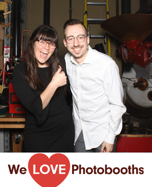 Nj Photo Booth Image from Rojo's Roastery in Lambertville, Nj
