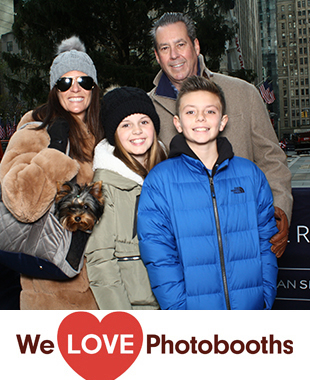 NY  Photo Booth Image from Rockefeller Plaza in New York, NY