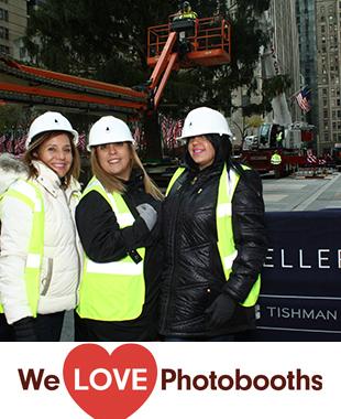 NY  Photo Booth Image from Rockefeller Plaza in New York, NY