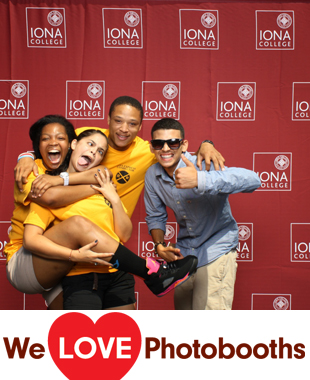NY Photo Booth Image from Iona College in New Rochelle, NY