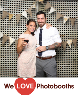 Private Residence -- outdoors under a tent Photo Booth Image